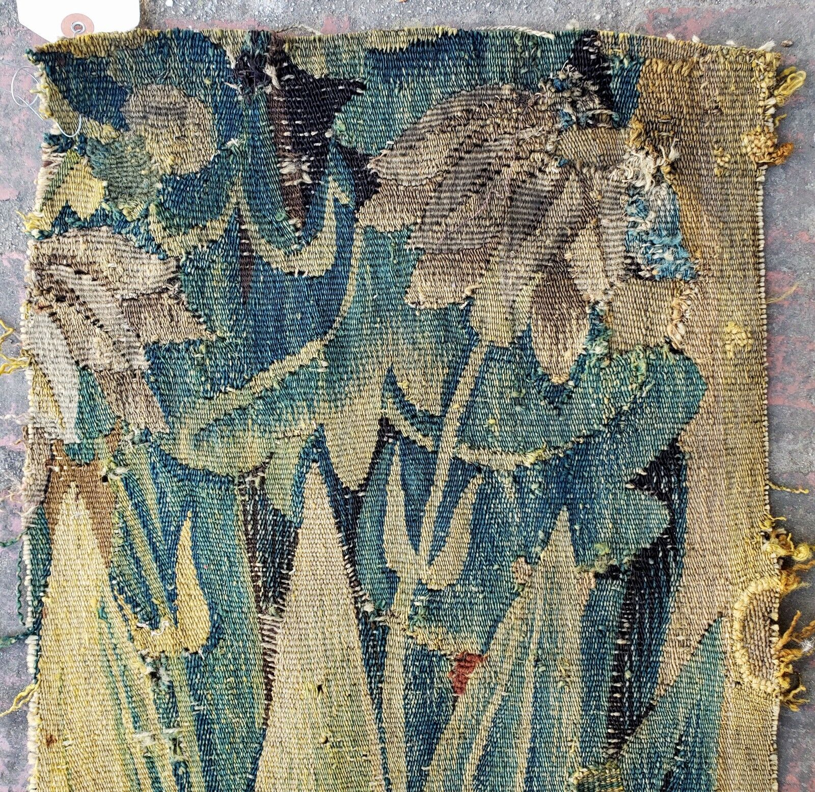 A 17th Century Tapestry Fragment with Plants