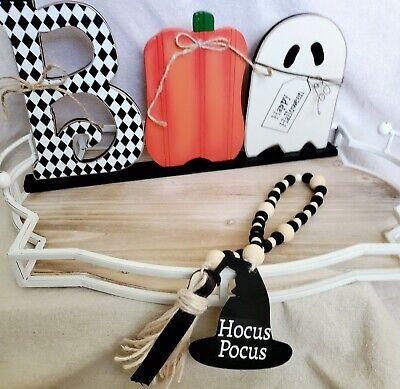Fall/Halloween Farmhouse Witch Hat Hocus Pocus bead Garland