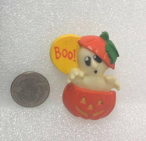 Hallmark Cards Boo! Ghost In Pumpkin Plastic Pin