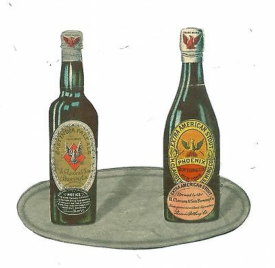 Advertising Die-cut Tray with East India Pale Ale & Extra American Stout c1901