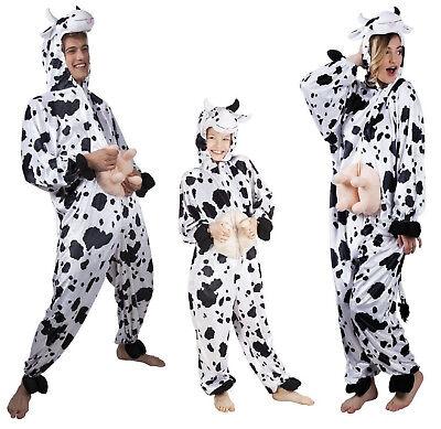 Kuhoverall Kuh Kühe Kostüm Overall Plüsch Milch Kuhkostüm Tier Kleid Hose (Milch Kostüm)
