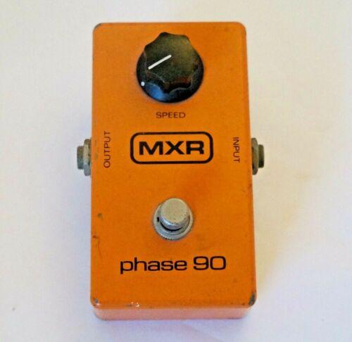 Vintage MXR PHASE 90 PHASE SHIFTER Effect Pedal Block Logo Circuit Works