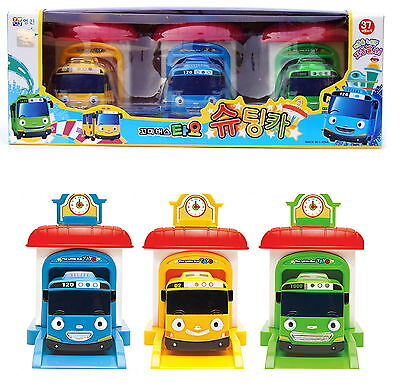 Little Bus TAYO Shooting car 3 ea Garage Tayo Rogi Rani Car Toy korean animation