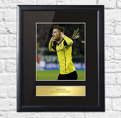 Marco Reus Signed Mounted Photo Display Borussia Dortmund Framed