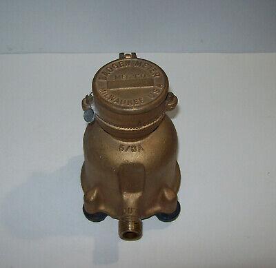 Vintage Badger Brass Water Meter 58a Usa Steampunk