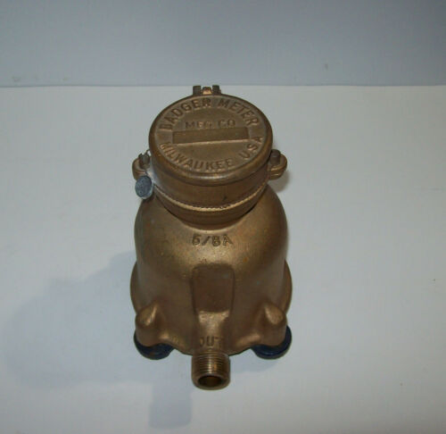 vintage BADGER Brass Water Meter 5/8A USA, steampunk