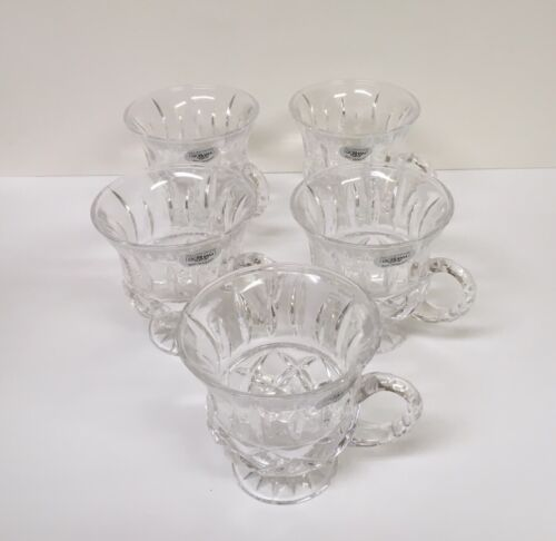 Gorham King Edward Punch Cups ( lot of 5 ) Lead Crystal