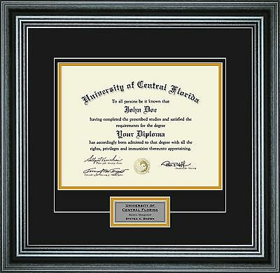 """Diploma Frame with School Colors and Personalization for 8.5"""" x 11"""""""