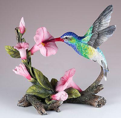 "Green Violet Eared Hummingbird Bird Figurine 5.5"" Long New In Box!"