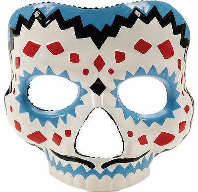 Day Of The Dead Male Adult Mask Realistic Colored Mexico Day Party Halloween](Halloween Mask Mexico)