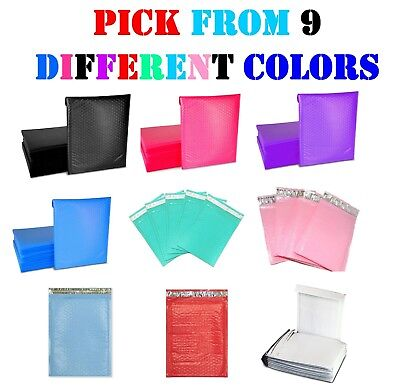 #0 6x10 Colored Poly Bubble Mailers Padded Envelopes Shipping Bags Mailing 6x9 (Colored Bubbles)