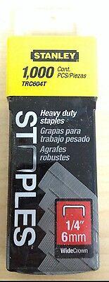 Heavy Duty Wide Crown Staples - Stanley 1/4