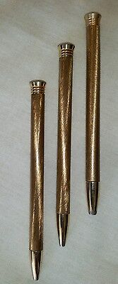 Antique Collectible Gold Plated Propelling Make-up Pens (RARE)
