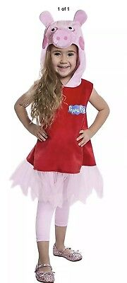 Peppa Pig Dress Costume For Toddlers (2T) Free - Peppa Pig Costume For Toddlers