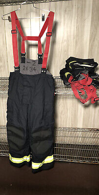 Fire Fighter Turnout Bunker Gear Nomex Pants High Back Fireman Bristol New