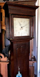 Antique English Georgian Long/Tall Case/Grandfather Clock- 18th Century