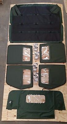 NEW HMMWV 4 Man Soft Top KIT GREEN Humvee M998 4 Doors, C-Pillar, Bows, Rails