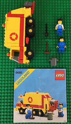 LEGO 6693 Refuse Collection Truck Lego City Legoland Vintage 1987
