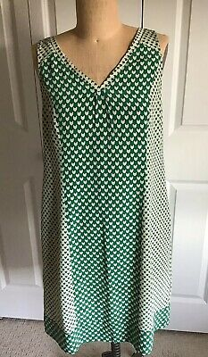 FOSSIL Silk Dress Green Size Med Pre-Loved Fossil Green Dress