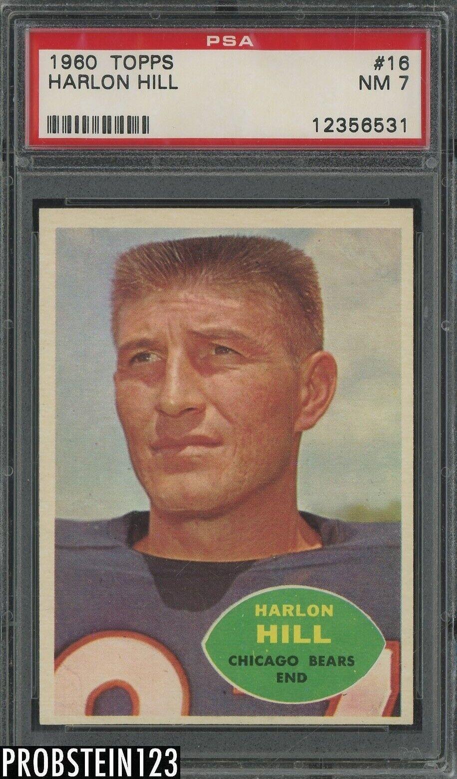 1960 Topps Football 16 Harlon Hill Chicago Bears PSA 7 NM - $13.08