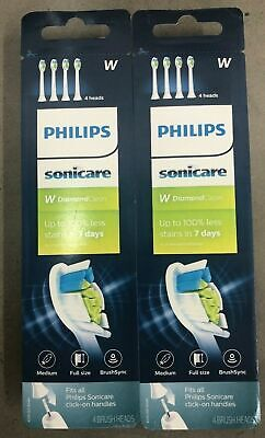 8 PCS Philips Sonicare Diamond Clean Toothbrush Replacement Heads HX6064/65