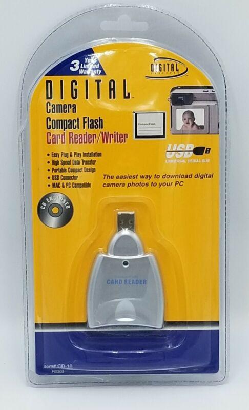 Digital Camera Compact Flash Card Reader Writer Digital Concepts CR-10