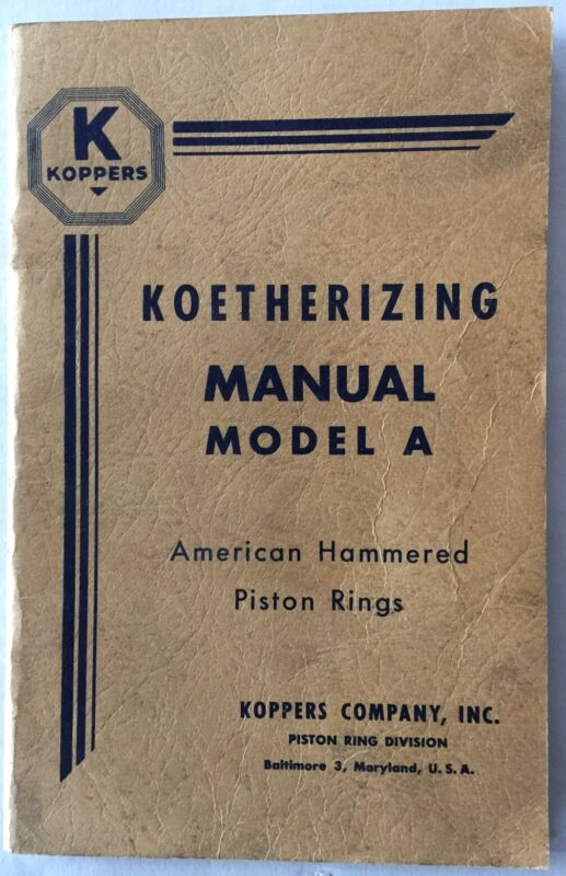 KOPPERS  KOETHERIZING MANUAL MODEL A