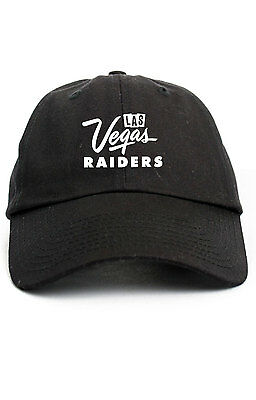 Las Vegas Raiders 2017 NFL Custom Unstructured Dad Hat  New-Black](Custom Raiders Hat)