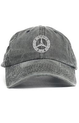Mercedes Benz Logo Custom Unstructured Dad Hat Baseball Cap New Black Denim