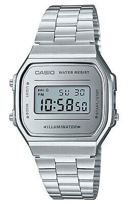 A168WEM-7VT Vintage Silver Digital Watch Unisex Collection