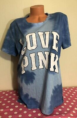 Campus Short Sleeve T-shirt - Victorias Secret PINK NWT Graphic Short Sleeve Campus Tye Dye T-shirt LARGE