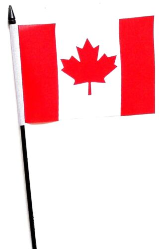 "Canada Small Hand Waving Flag 6"" x 4"""