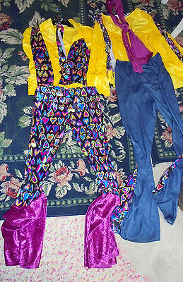 Set of boy and girl Hippie Costumes Halloween dress up one size fits most groovy (Boy And Girl Dress Up)
