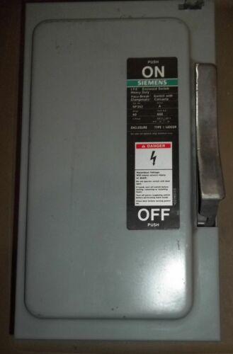 Siemens NF352 60 Amp 600V  Enclosed Switch, A series Type 1