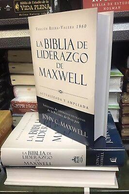 Biblia de Liderazgo de Maxwell RVR1960- Tamaño Manual john  Maxwell  tapa dura