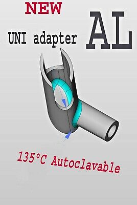 Uni Adapter Aluminum Autoclav -connect Isolite Mouthpieces To Suction Handle