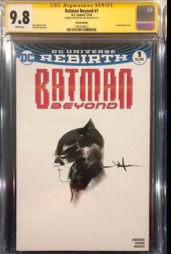 JAE LEE ORIGINAL Sketch Art CGC 9.8 BATMAN Beyond Dark Knight #1 Signed not CBCS