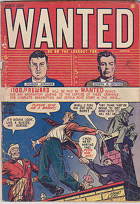 Wanted #19 Golden-Age Pre-Code Crime 1949 Toytown