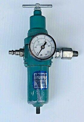 Vintage Lincoln Industrial Air Pressure Regulator Max 200 Psi Reduced