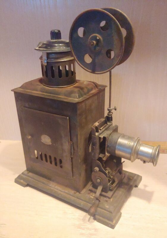 Antique J F 35mm Hand Crank Motion Picture Movie Film Projector German