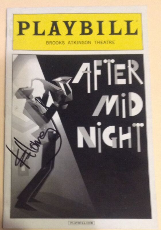 AFTER MIDNIGHT SIGNED K.D LANG PLAYBILL CONSTANT CRAVING