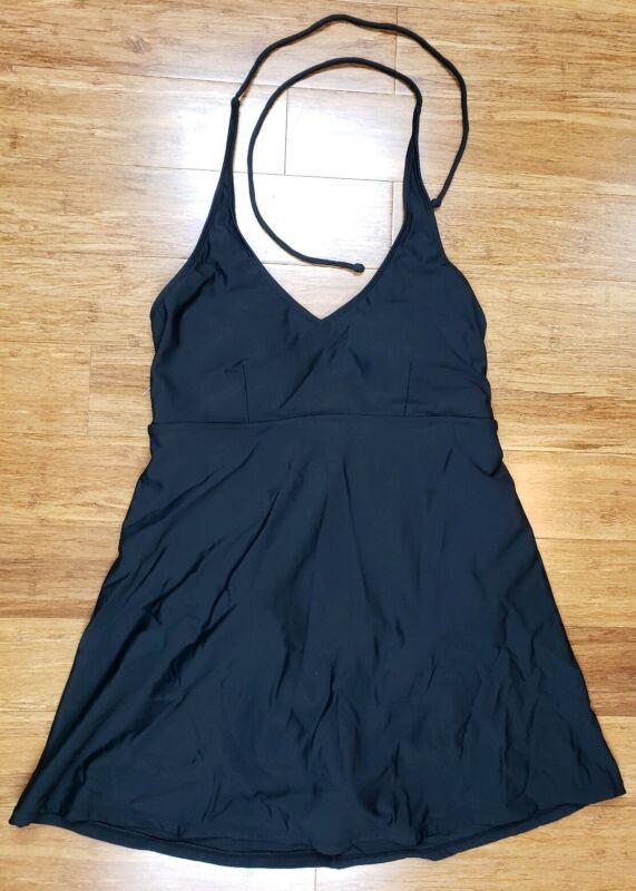 Liz Lange Maternity For Target S Swimdress Swimsuit Bathing Suit Black halter