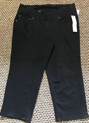 Jag Jeans size 18 W Capri Length Stretch in black New with tags Was $79