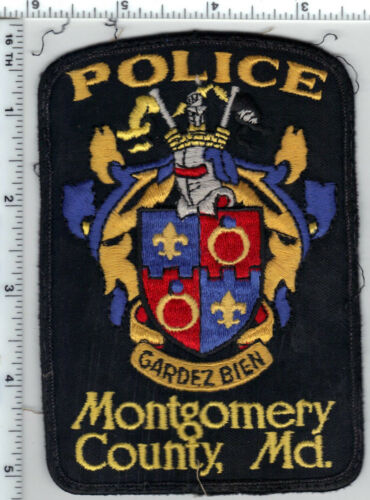 Montgomery County Police (Maryland) uniform take-off shoulder patch from 1980