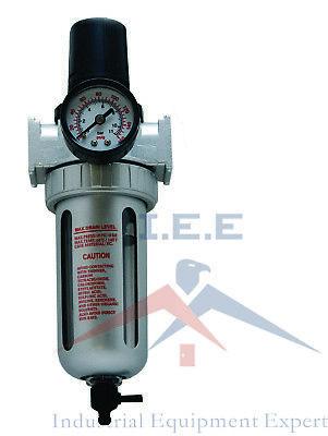 12 Mid Flow Air Compressor Regulator Filter Combo W Gauge Manual Drain