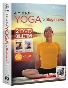 A.M. & P.M. YOGA FOR BEGINNERS (DVD SET) Rodney Yee workout am pm meditation NEW