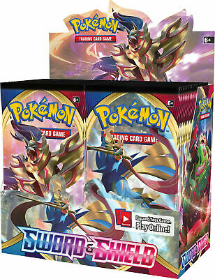 SWORD AND SHIELD BASE SET 36 ct BOOSTER BOX POKEMON TCG NEW & SEALED IN STOCK