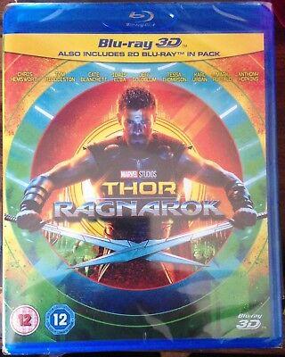 Thor Ragnarok 3D  2017   Blu Ray 3D   2D     Region Free    New   Sealed