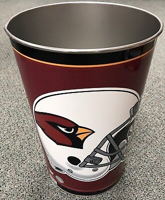 ARIZONA CARDINALS ~ (1) NFL 15 Inch Wastebasket Trash Can ~ New! 15 Inch Wastebasket Trash Can