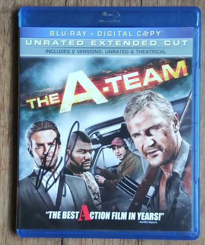 BRADLEY COOPER AUTOGRAPHED THE A-TEAM BLU RAY